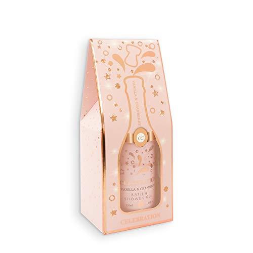 Accentra Duschgel Celebration in der Champagner-Flasche - Dusch-Seife Sekt-Flasche - Geschenkidee für Frauen und Männer - 120ml Badezusatz Farbe Rosa