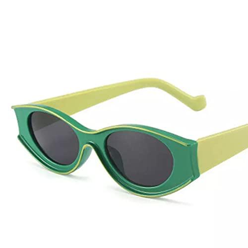 HHAA Gafas De Sol Rectangulares De Una Pieza con Personalidad, Gafas De Sol Transparentes De Diseñador para Mujer, Gafas con Patrón De Piel De Serpiente Uv400