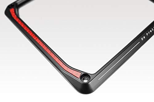Cornice Targa 'Stretch' (B-0125B) - 17x17 cm - Universale con Catarifrangente Catadiottro - Portatarga in Alluminio - Accessori De Pretto Moto (DPM Race) - 100% Made in Italy