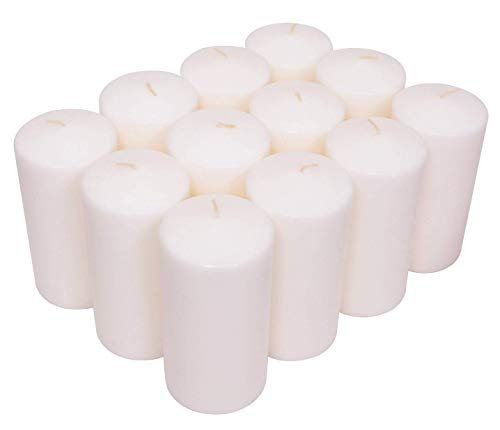 Exquizite White Pillar Candles Bulk 12 Pack 3X6 - Unscented Dripless White Pillar Candles - Perfect  - http://coolthings.us