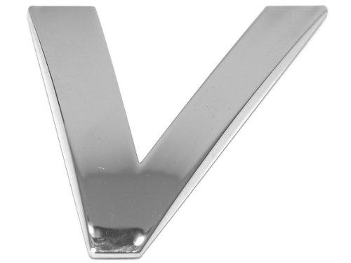 Eufab 30332 3d-letter V Car-logo