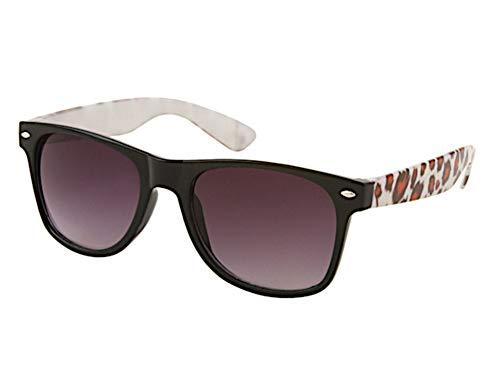 Chic-Net Animal Print Gafas de sol unisex gafas de empollón púrpura tintados UV 400 Tonalidades Wayfarer de naranja marrón