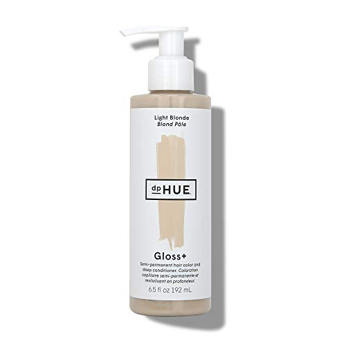 dpHUE Gloss+ - Light Blonde, 6.5 oz - Color-Boosting Semi-Permanent Hair Dye & Deep Conditioner - Enhance & Deepen Natural or Color-Treated Hair - Gluten-Free, Vegan