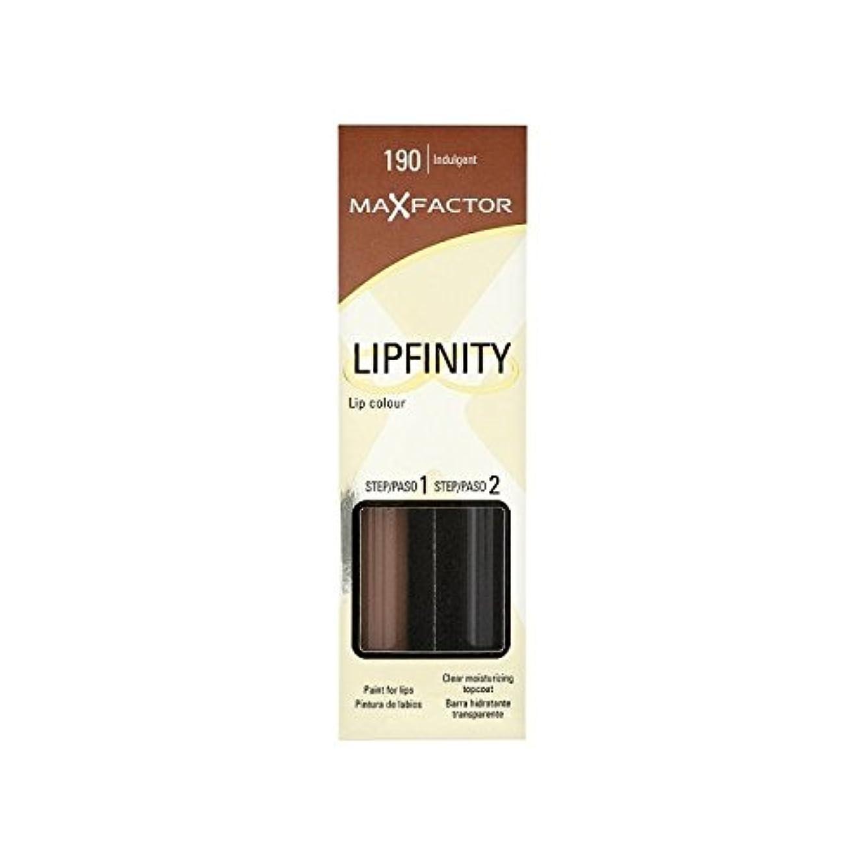丁寧乗ってマックスファクターの口紅甘い190 x2 - Max Factor Lipfinity Longwear Lipstick Indulgent 190 (Pack of 2) [並行輸入品]