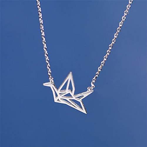 Suministros Diarios de Moda Cientos de Miles de grullas de Papel Colgantes Collar de Plata Collar de Origami Cadenas de clavícula Animales