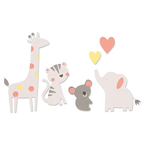 Sizzix Fustella Bigz 663863, Amici dello Zoo di Olivia Rose, Multicolore, Taglia unica