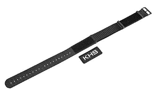 KHS Natoband Black, Ersatzarmband, KHS.EBNXT7.22
