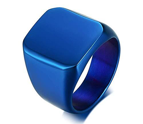 Anillo Roca IXCRA Negro Plateado Dorado Azul Para Hombre de Titanio Autentico Acero Inoxidable Regalo Único y Especial para Hombre Pulido Fuerte Resistente...