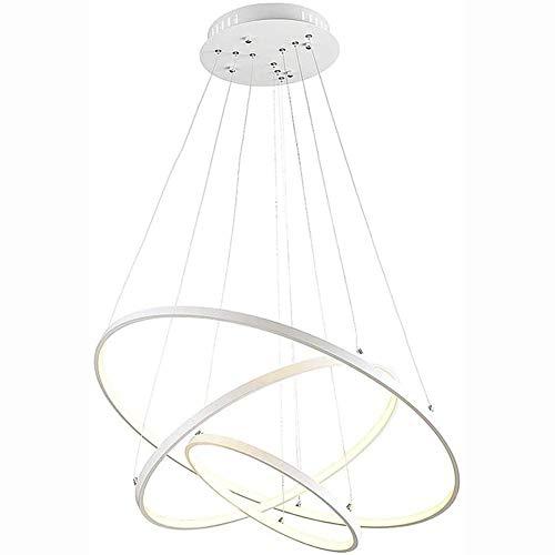 Lámpara de araña moderna luz de oficina redonda. Una lámpara de araña lámpara de araña de anillo simple. Adecuado para dormitorios Sala de estar Restaurante Luz blanca fría 80 cm
