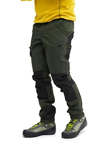 RevolutionRace Herren Nordwand Pants, Hose zum Wandern und für viele Outdoor-Aktivitäten, Forest Green, L