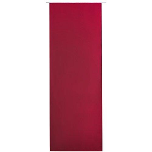 Bestlivings Flächen-Vorhang Blickdicht Schiebe-gardine Raumteiler Schiebe-Vorhang ca.60cm x 245cm, Auswahl: mit Zubehör, rot - Salsa