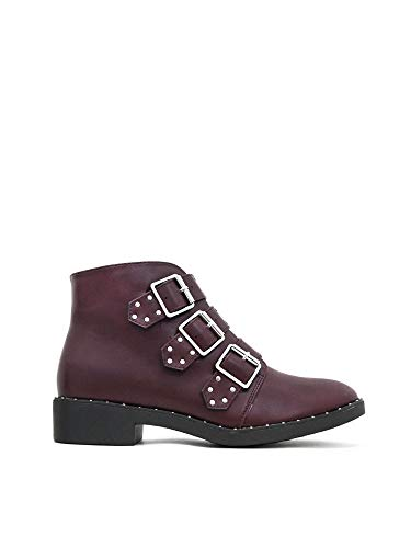 Coolway Chip Botines/Low Boots Mujeres Burdeo - 39 - Botas De Caña Baja Shoes