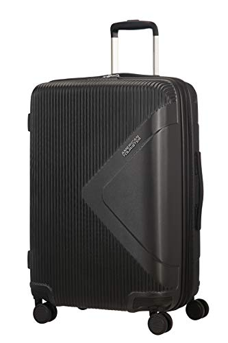 American Tourister Modern Dream - Spinner Expandable Suitcase, 68.5 cm, 81 Litre, Black (Universe Black)