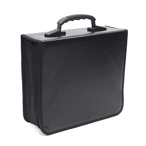 400 Disc CD DVD Organizer Holder Storage Case Bag Portable Wallet Album Media Video Black
