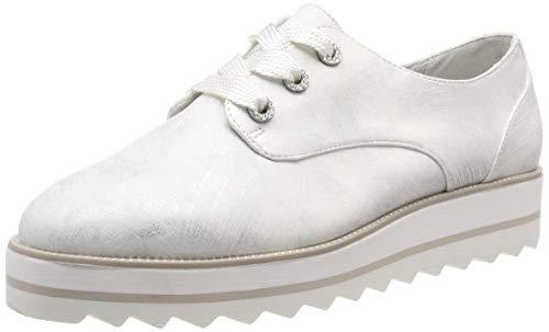 Tamaris Damen 1-1-23700-32 Sneaker, Weiß (White Met.Str. 106), 40 EU