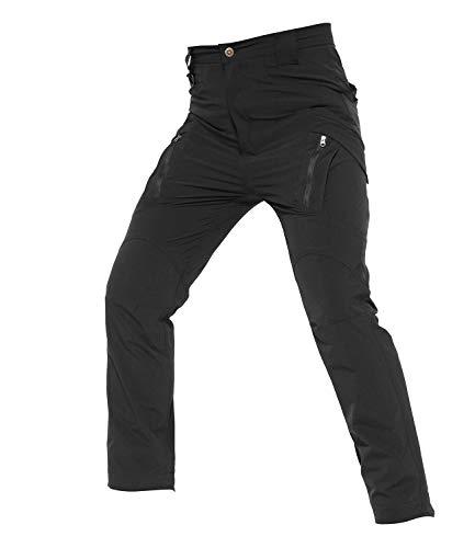 YFNT Hommes Tactique Imperméable Pantalon Cargo Léger à séchage Rapide Pantalon Ripstop avec, Escalade, randonnée