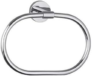 Hindware F880007CP Brass Contessa Towel Ring (Silver)