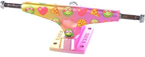 Krux TMNT Emoji Krome Matte Trucks Pink/Yellow - 8.25