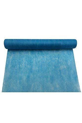 Smiffy's - Chemin de table turquoise rouleau intisse 30cmx 5m