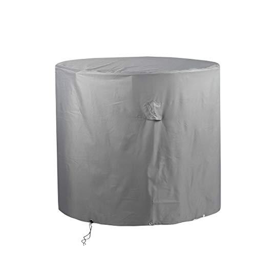 Zoomyo runde Gewebeschutzhülle für Gartentische,Wasserdicht, Winddicht, Hochwertiges Oxford 600D Gewebe nutzbar als Wetterschutz für Gartenmöbel-Sets, Größe ca. 125 x 94...