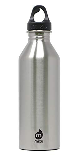 Mizu Trinkflasche M8 Stainless and loop cap, Silver, 800 ml