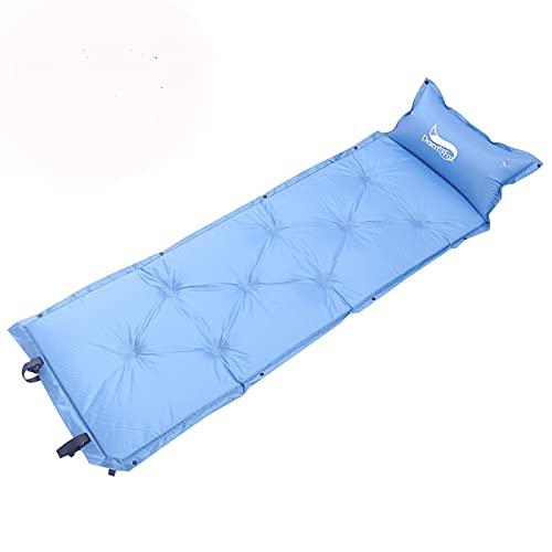 Esterilla Inflable Camping Inflación del colchón de aire de la almohadilla de la carpa para dormir almohada adjunta alfarera portátil para acampar con la bolsa de transporte para la pesca de senderism