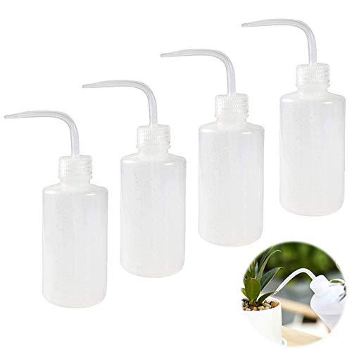 Quetschflasche Squeeze Flasche Waschflasche 250ml Plastikflaschen Kunststoff Squeeze Flaschen Sprühflasche für Pflanzen Spritzflasche für Gartenarbeit Industrie Labor und Chemie Weiß 4 Stück