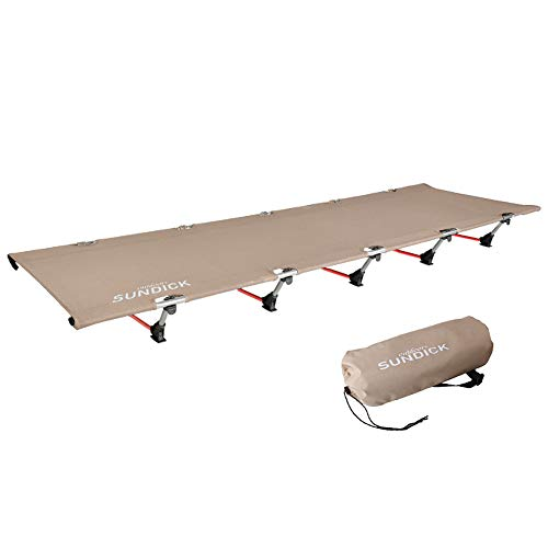 Ajcoflt Portable Foldable Camping Cot Single Person Outdoor Folding Bed 330LB Bearing Weight Compact for Outdoor Hiking Backpacking Picnic Camping