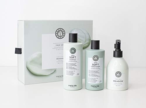 Maria Nila True Soft Shampoo/Conditioner 350ml/300ml + Gratis Maria Nila Meadow Hand Lotion 300ml