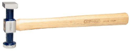 KS Tools 140.2138 Martillo de carrocero estándar, cabeza pequeña, plana (redonda/angular), superficie de trabajo pulida, 325 mm