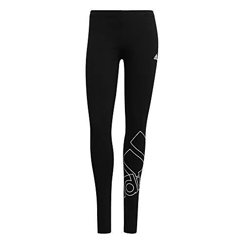 adidas Damen W Fav Q1 Leggings, Schwarz/Weiß, L EU