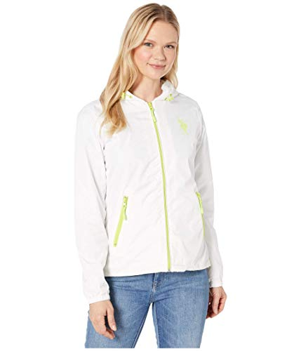 U.S. Polo Assn. Neon Windbreaker White LG