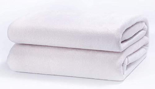 TIENDA EURASIA Mantas para Sofá de Terciopelo - Material 100% Microfibra - Tacto Suave Sedalina (Blanco, 130 X 160 CM)