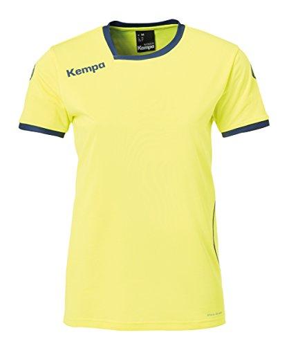 Kempa Damen Curve Trikot Women, Fluo gelb/deep blau, XL