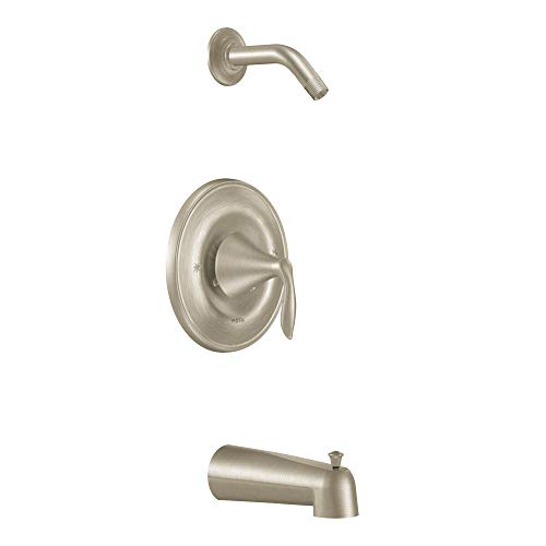 Moen T2133NHBN Eva Posi-Temp Tub and Shower Trim Kit without Showerhead, Valve Required, Brushed Nickel