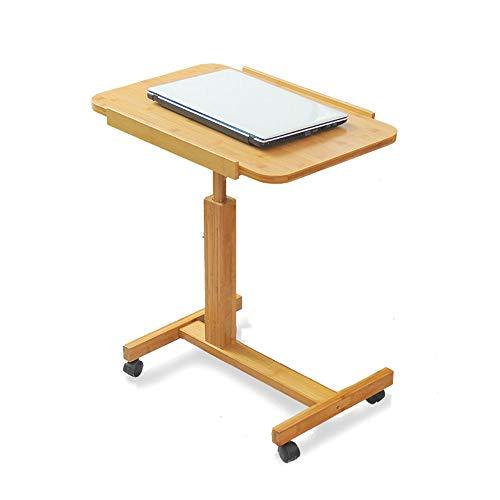 Kewei Blumenständer mobiler Ständer für Laptop / Schreibtisch aus Bambus, höhenverstellbar, Computer-Arbeitsplatz, schwimmender Schreibtisch (Größe: 70 x 50 cm), Größe: 70 x 50 cm Regalregal, 70*50 cm