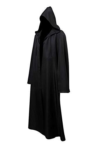Helymore Cabo de Guerrera Medieval con Capucha Disfraz de Monje Vintage Disfraz de Soldado Marron/Negro