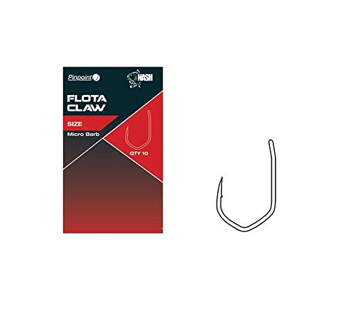 Nash Pinpoint Flota Claw Micro Barbed Hooks Qty 10 (Size 7)