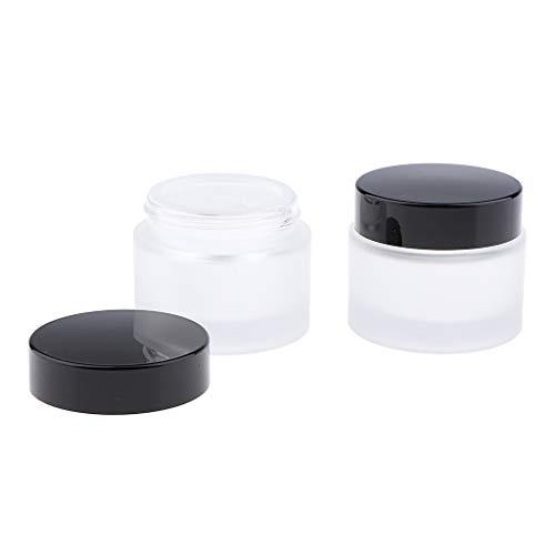 Homyl 2 pcs Pot Cosmétique Vides Flacon Maquillage Portable Bocaux de Crème Conteneurs de Stockage Bouteilles Voyage pour Lotion Crème Baume Poudre - 50g