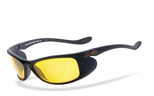 HELLY® - No.1 Bikereyes® | Bikerbrille, Motorradbrille, Motorrad Nachtbrille | HIGHLIGHT: beschlagfrei, winddicht, bruchsicher | TOP Tragegefühl bei langen Ausfahrten | Brille: top speed 4