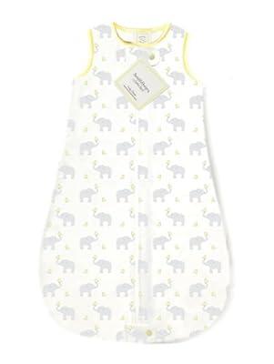 SwaddleDesigns zzZipMe Sack, algodón), diseño de elefante & Chickies _ Parent ASIN