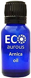 Arnica Oil 100% Natural Organic Arnica Essential Oil | Arnica Massage Oil | Aromatherapy Oils by Eco Aurous (15 ml (0.5 oz))