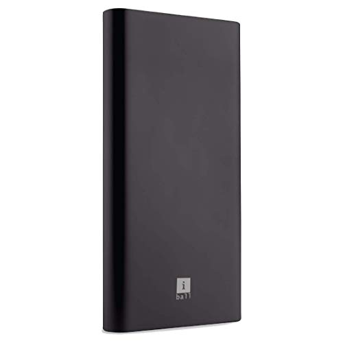 iBall 10000mAh Li-Polymer Slim Design Smart Charge Metal Powerbank – LPM10000 (Black)