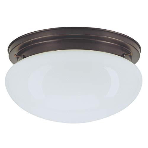 Dora Messing Glas Deckenleuchte in Altmessing Weiß, Opal weiß antikmessing | Handarbeit Qualität aus deutscher Manufaktur | Deckenlampe Klassisch Dimmbar | Lampe E27