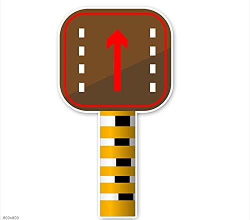 WZJH 14. 5cmx7.8cm Prohibir la señal de Advertencia Pegatinas de automóviles Accesorios de Accesorios