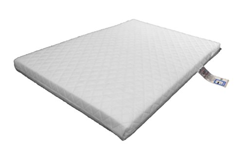 Laura Deluxe Hypo-Allergenic Eco Air Flow Quilted Dual Sided Travel Cot Mattress 95 x 65cm x 5cm Thick British Made