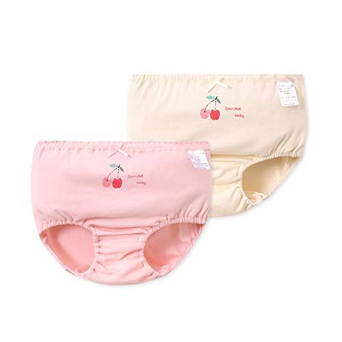 Havanadd Havanadd Baby Höschen Kinder Unterwäsche Weiche Baumwolle Nette Mädchen Unterwäsche Verschiedene Höschen Slip Für Kinder Vogue Unterwäsche (2er Pack) kleine Mädchen Kurze Slips (Größe : 90cm)