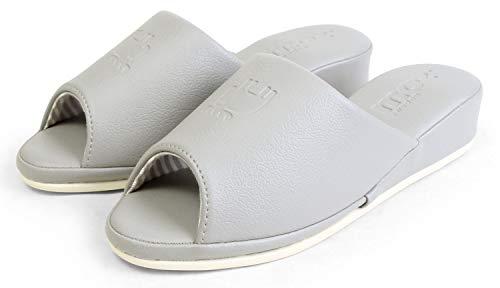 [モズ] スリッパ ルームシューズ ヒール4cm 室内履き 北欧 91F2005 23.0cm-24.0cm対応 グレー