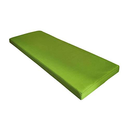 ZDSKSH Cuscino per Panche Lungo E Comodo per Sedili di Panche da Giardino Balcone Terrazza,Verde,120x35x5cm