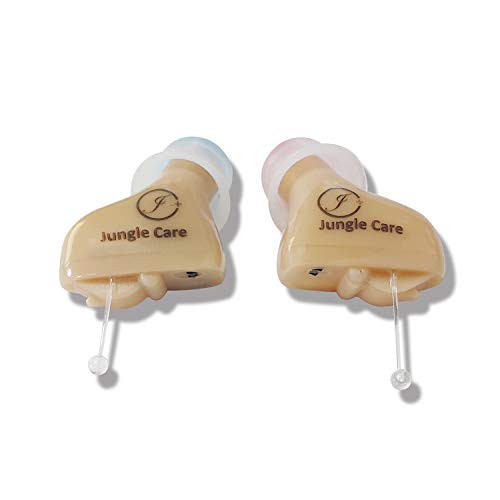 Jungle Care Faye | Hearing Amplifier for Seniors Adults Audiologist Designed CIC PSAP Elderly Hearing Impaired Instrument - Completely Invisible in Ear Canal, Noise Reduction